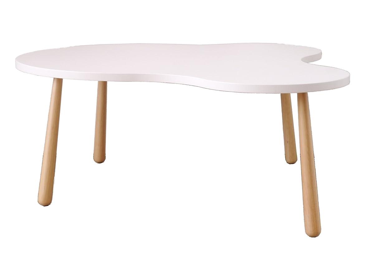 汚物絶縁する教育大川家具 GART リビングテーブル CURU (クル) Lサイズ ホワイト