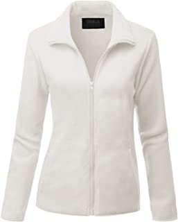 Womens Full Zip Fleece Jacket With Pockets (Plus Size Available)