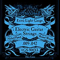 AriaProII アリアプロツー エレキギター弦 09-42 Extra Light エクルトラライト AGS-800XL