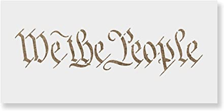 We The People Stencil Template for Walls and Crafts - Reusable Stencils for Painting in Small & Large Sizes