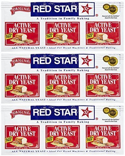 Red Star GlutenFree Active Dry Yeast, 0.75 oz, 3 ct, 3 pk by Red Star