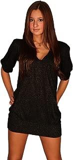 Qi Cashmere Blousen Sleeve V Neck Tunic Shimmer Top
