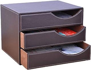 Multi-Fonctionnels Organiseur de Bureau Bo/îtes /Étag/ère de Rangement /à 3 Compartiments et Fentes pour Livres Journaux Magazines Stylo Crayon A4 Papier Accessoire.