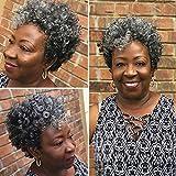 MIMAN Miman 5 Packs 10 Inch Short Saniya Curl Crochet Hair for Black Women Bouncy Crochet Braids Synthetic Braiding Hair (Grey)