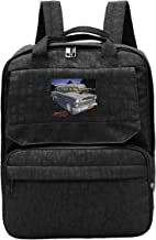 WUHONZS Travel Backpack Bob Falfa's 55 Chevy American Graffiti Hot Rod Gym Hiking Daypack College Laptop and Notebook Bag for Women & Men