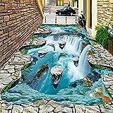 Foto Wallpaper 3D Stereo Cliff Cascate Piastrelle Per Pavimenti Adesivo All'Aperto Bagno Soggiorno Corridoi Abbigliamento In Pvc Impermeabile Murales-350X245Cmadesivi Murali In Vinile Rimovibili Ade