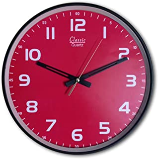 Improvhome Designer Plastic Wall Clock for Home/Living Room/Bedroom/Kitchen- 12 inches.
