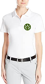 Deamoon Green Revolution Women's Custom Polo T Shirt White