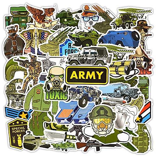 Etiqueta engomada Militar del ejército Car Styling Bike Motocicleta Laptop Equipaje de Viaje Cool Funny Sticker 50pcs