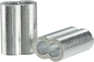 uxcell 8mm 5/16-inch Cable Wire Rope Aluminum Sleeves Clip Crimping Loop 10pcs