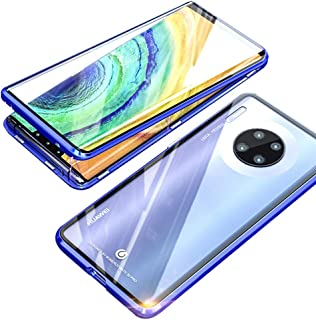 EUDTH Huawei Mate 30 Pro Case, 360° Full Body Magnetic Adsorption Metal Frame Flip 9H Tempered Glass [Front and Back] Full...