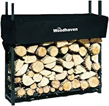 Woodhaven The 3 Foot Firewood Log Rack with Cover