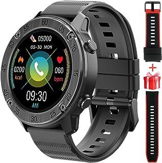 Blackview Montre Connectée Homme Femmes,1.3 Pouces Montre Intelligente Sport Etanche IP68,Smartwatch Sport avec Fréquence Cardiaque,avec 2 Sangles pour,9 Modes Sport pour iOS Android Telephone