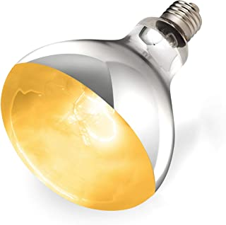 REPTI ZOO 125W Reptile Heat Lamp Sun Lamp UVA UVB Reptile Full Spectrum Basking Bulb Heat Light Lamp for Reptile and Amphibian