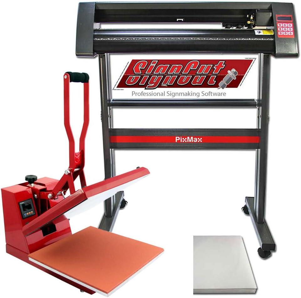 PixMax Prensa de Calor Maquina de Prensa de Calor Máquina de la sublimación de la transferencia de la prensa del calor de la camiseta, uso para industrial   38cm x 38 xcm   Plóter Plotter de Corte de