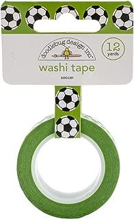 Doodlebug GO4794 Washi Tape 15mmX12yd-Goal Soccer Balls, Goal