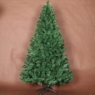 JR%L Christmas Encryption Tree Green National Tree Snow Flocked Artificial Pencil Christmas Tree PVC Slim Tree with Solid Metal Legs-a 150cm(5ft)