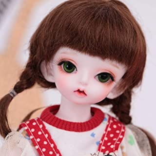 BJD Girl Doll with Different Motion, 10-Inch with Silky Hair and Makeup Face, Wearing Exquisite Clothes and Shoes, SD, Gre...