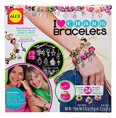 Alex DIY Wear I Heart Charm Bracelets Kids Art and Craft Activity