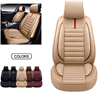 OASIS AUTO Leather Car Seat Covers, Faux Leatherette Automotive Vehicle Cushion Cover for Cars SUV Pick-up Truck Universal...