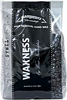 Wax Necessities Waxness Barbero Depilatory Hard Wax Steel for Men 2.2 Pound