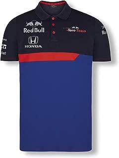 Toro Rosso Official Teamline Camisa Polo, Azul Hombre Camiseta Manga Corta, STR F1 2019 Original Ropa & Accesorios