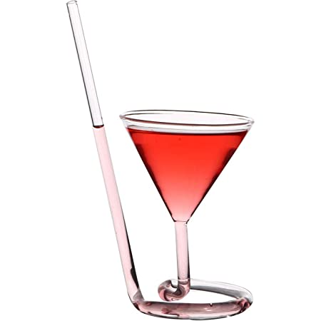MYPNB Copas de Vino Cocktail Paja Espiral Vaso de c/óctel Vidrio Gafas Que Gira