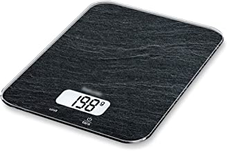 JJJJD Electric Weighing Scales Household Kitchen Scale/High Precision Baking Food Scale/Tempered Glass Surface Waterproof Wear/Multi Color Optional (Color : Black)