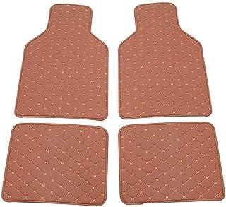 Asiento de coche Viaje seguro de coche tapetes for el coche tapetes de 4 piezas almohadilla de espuma de memoria (Size : Brown)