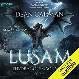 Lusam     The Dragon Mage Wars, Book 5              Auteur(s):                                                                                                                                 Dean Cadman                               Narrateur(s):                                                                                                                                 Alex Wyndham                      Durée: 16 h et 3 min     15 évaluations     Au global 4,8