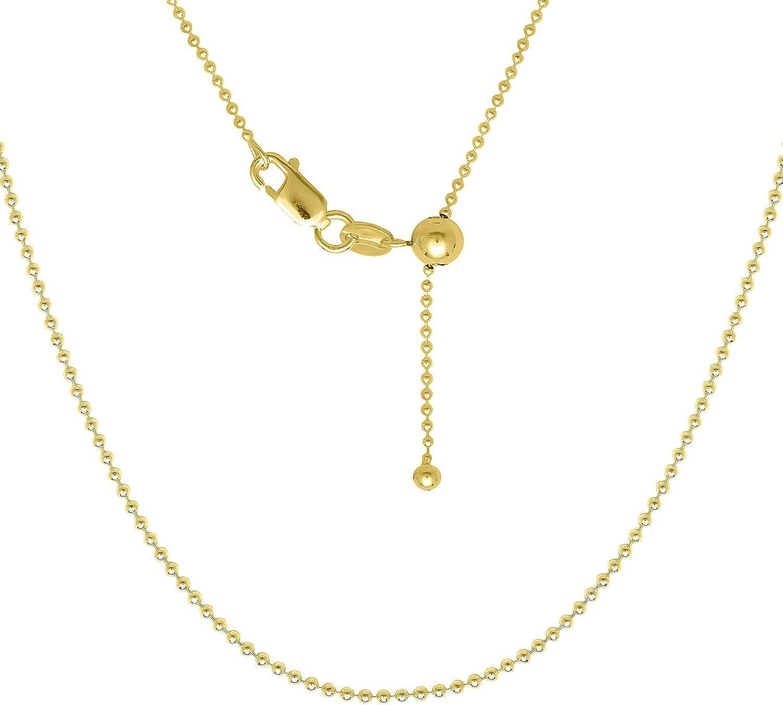 Verona Jewelers Sterling Silver Italian 1.2MM Adjustable Diamond