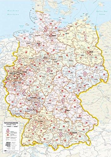 Whiteboard Postleitkarte Deutschland: 1:1.600.000