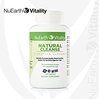 All Natural Herbal Colon Detox Supplement Capsules – NuEarth Vitality Natural Cleanse – Helps rid Your Body and Gut of toxins, Digestive and intestinal Repair Supports Healthy Weight Loss
