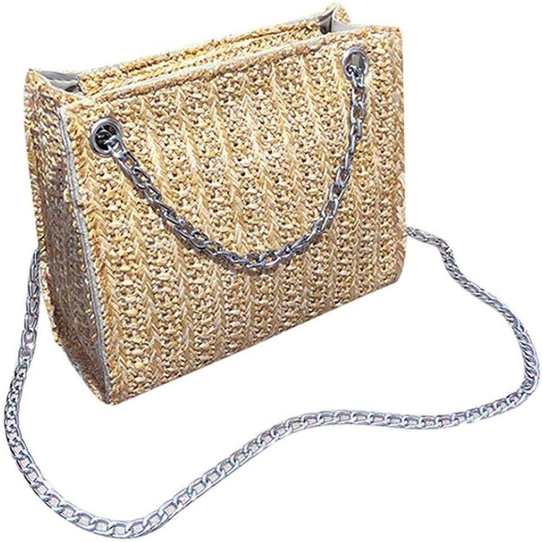 Bloomerang DCOS Handbag Shoulder,Fashion Women Straw Bag Shoulder Bag Crossbody Bag Messenger Bag color Khaki