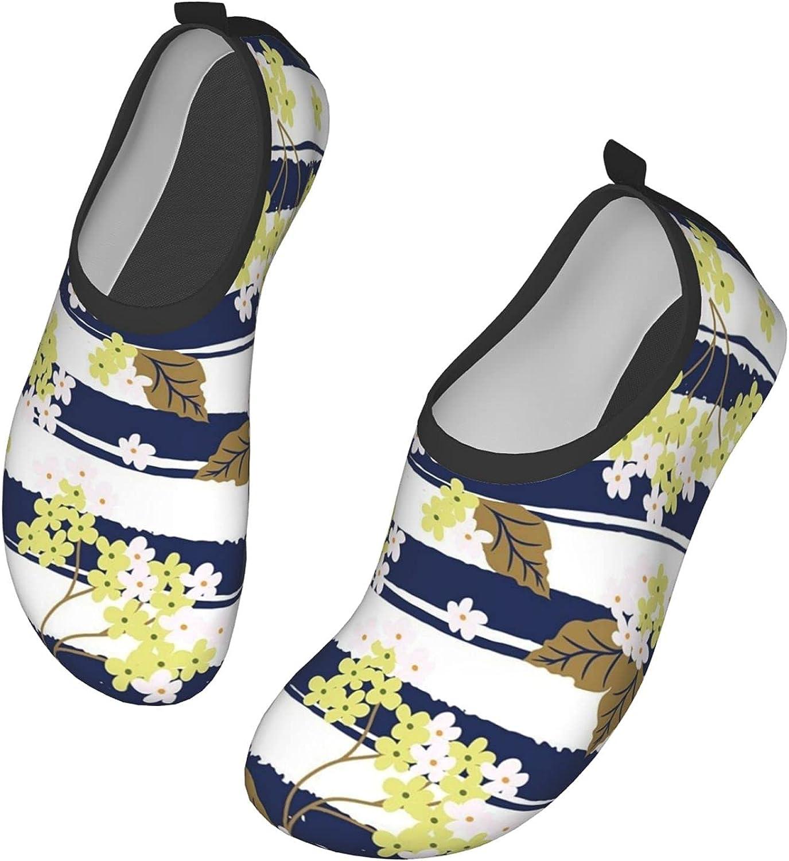 Vintage Floral Men's Women's Water Shoes Barefoot Quick Dry Slip-on Aqua Socks for Yoga Beach Sports Swim surf