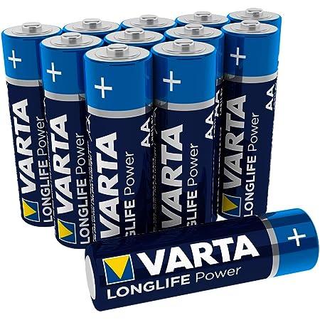 Varta Longlife Power AA Mignon Batteria LR06 (pacco da 12) Batteria alcalina - Made in Germany - Ideali per giocattoli, torce, controller e altri dispositivi a batteria