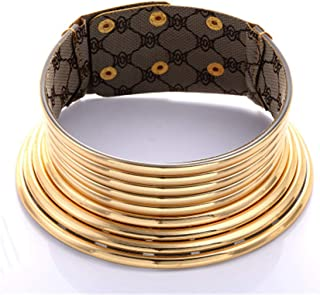 African National Flamboyant Necklaces Adjustable Personality Creative Style Large Collars Necklaces for Women Gold Egypt Punk Gothic Customized Fashion Jewelry