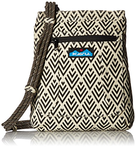KAVU Keepalong Semi Padded Sling Canvas Rope Crossbody Bag - Deco Tiles