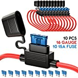 UNEEDE 10 Pack Fuse Inline Fuse Holder ATC/ATO Add-a-circuit Car Fuse Holder TAP Adapter 1...