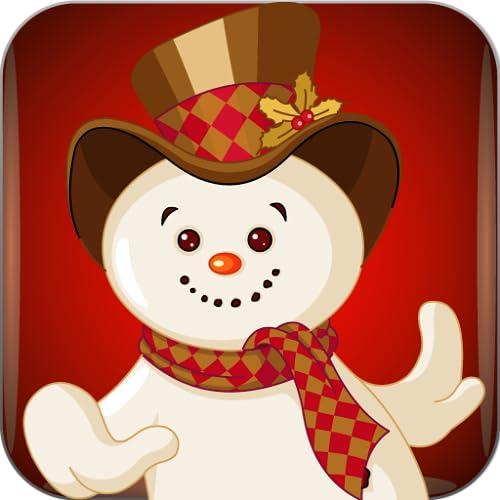 Schneemann und Weihnachtsmann für Kinder - lustige und lehrreiche Lernspiel für Vorschulkindergarten oder Kleinkinder, Jungen und Mädchen jeden Alters
