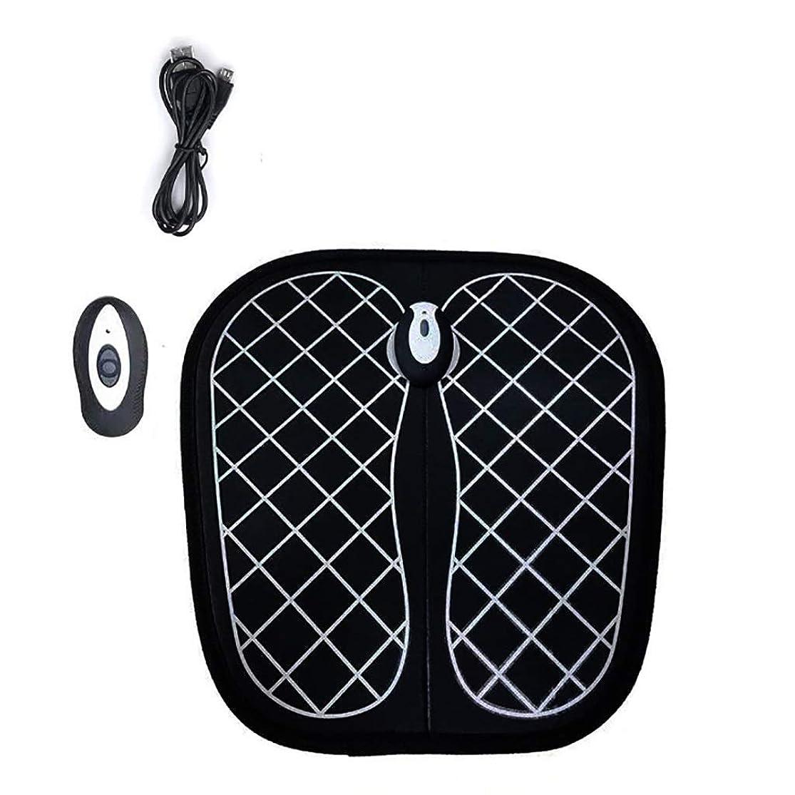 平日チキン崖電動フットマッサージャー、振動足底パルスマット、USB充電式ヘルプで血行を改善し、痛みや痛みを和らげます (Color : Black)
