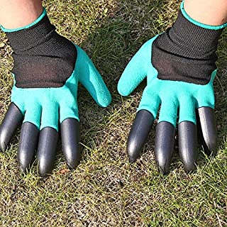 SIZOO - Household Gloves - Garden Gloves with 4 Claws Garden Genie Rubber Gloves Quick Easy to Dig and Plant For Digging P...