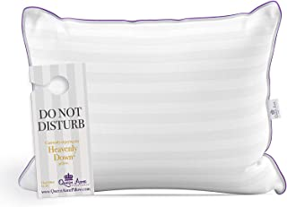 Queen Anne Luxury Hotel Pillow - Majesty Down Synthetic - Allergy Free Hypoallergenic Bed Pillow Pillow - USA Made (King Firm)