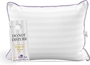Queen Anne Luxury Hotel Pillow - Majesty Down Synthetic - Allergy Free Hypoallergenic Bed Pillow Pillow - USA Made (Queen Medium)