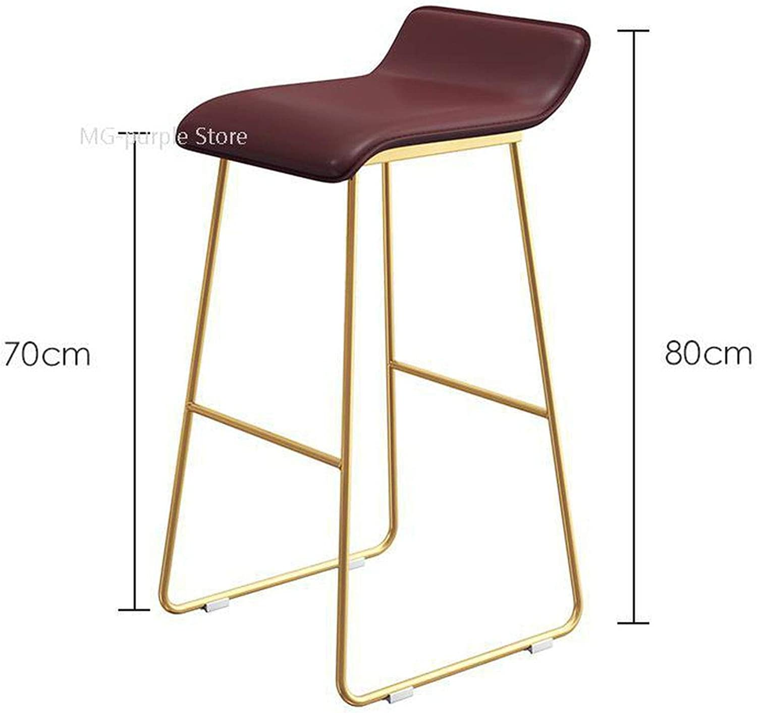 Bar Chair Coffee Milk Tea Lounge Chair Simple Bar Stool Designer Wrought Iron gold High Chair Padded Bar Chair,Style 11