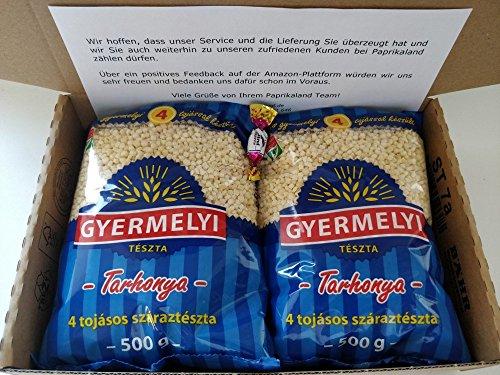 1kg Eiergraupen mit 4 Eiern Nudel aus Ungarn Tarhonya Doppelpack 2 x 500g