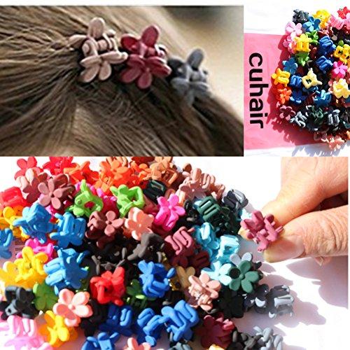 cuhair Lot de 50 mini pinces à cheveux pour fille et femme Mélange de couleurs