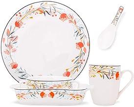 LANGY Creative Ceramic Tableware Plate, Dessert/Salad Bowl, Baking Tray, Mug, Material Ceramic, Reactive Glaze Dinnerware ...