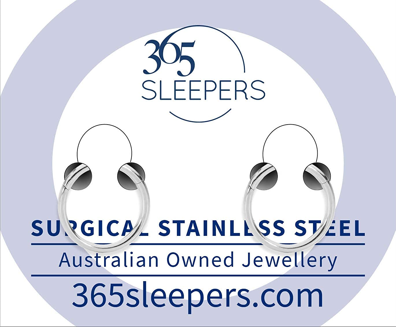 365 Sleepers 2 Pcs Stainless Steel 5/16