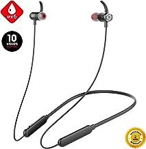 Junesh [2019 Newest] Wireless Headphones, Premium 10hrs Bluetooth Earphones, Neckband Headphones with Mic,IPX6 Waterproof Wireless Earbuds Sport,HiFi Bass Magnetic Earbuds for Running Workout Gym